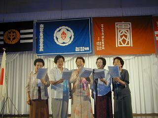 旧制魚津高等女学校の校歌斉唱