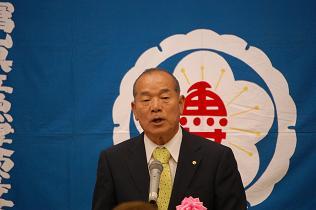谷口貞夫氏のあいさつ