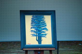 加藤前校長による油絵「樹」