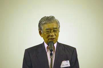 中尾同窓会長のあいさつ