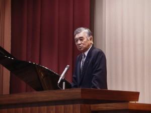 中尾会長からの祝辞