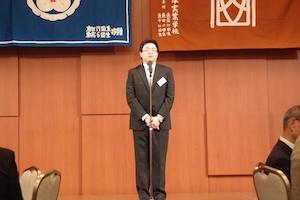 山口正人幹事代表の挨拶