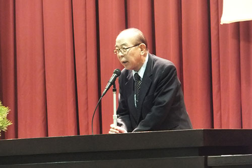 千田同窓会会長の挨拶